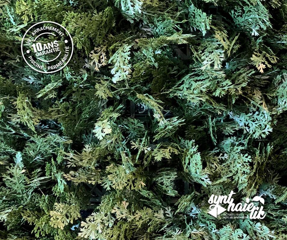 Brise vue Haie végétale artificielle Cyprès Vert à 34.95TTC/m²