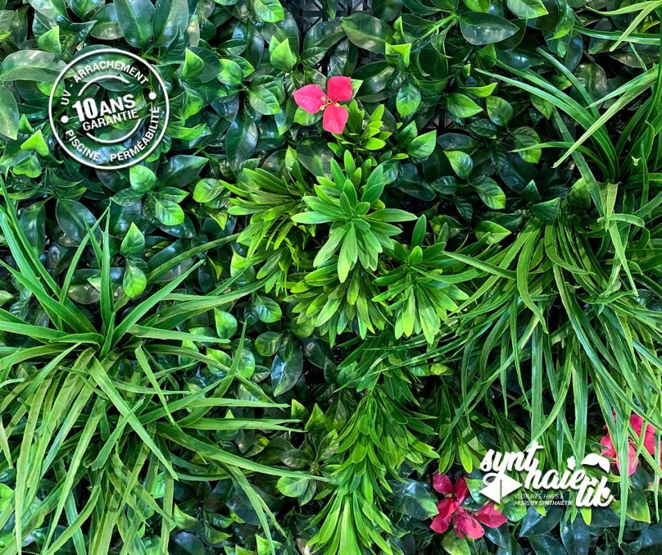 Mur végétal artificiel brise vue végétal bougainvilliers à 54.95TTC/m²