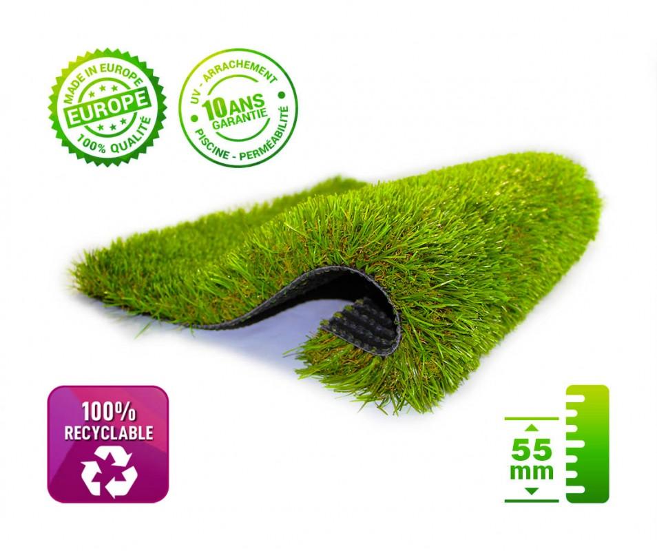 Gazon Synthétique 100% Recyclable et Pelouse Synthétique 100% Recyclable